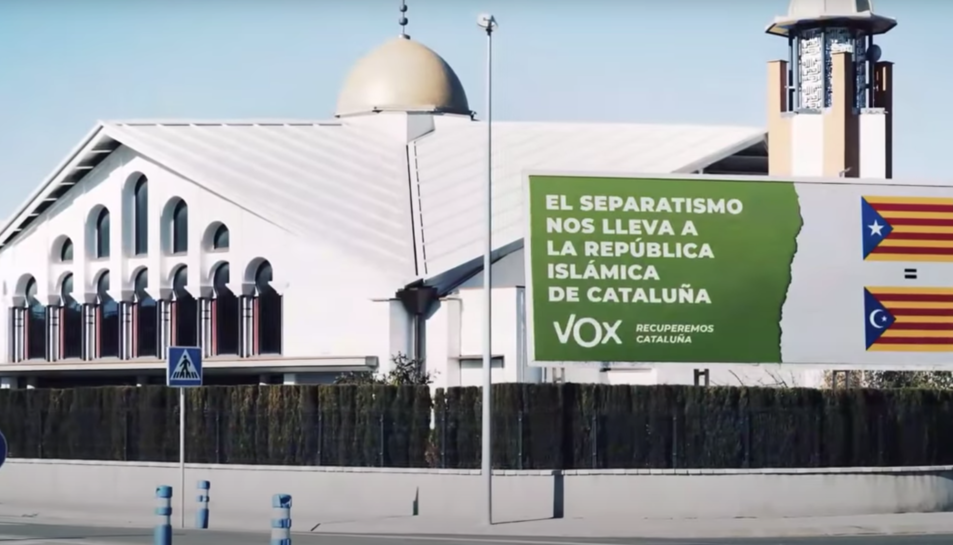 Captura del vídeo de Vox