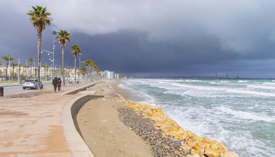 Imatge de l'estat de la platja.