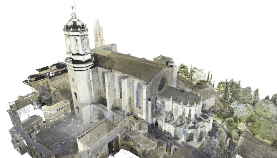 Imatge tridimensional de la Catedral de Girona.