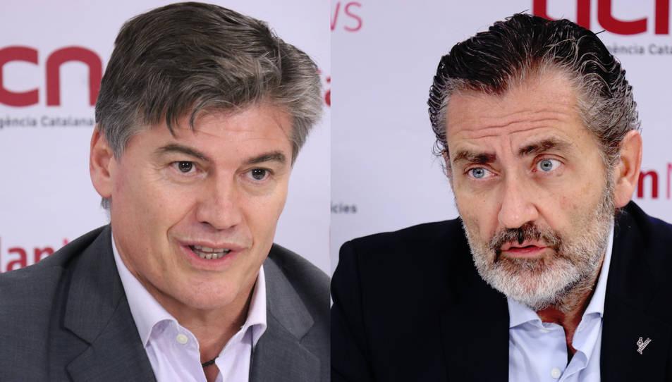 Els candidats a la presidència de PIMEC, Antoni Cañete i Pere Barrios.