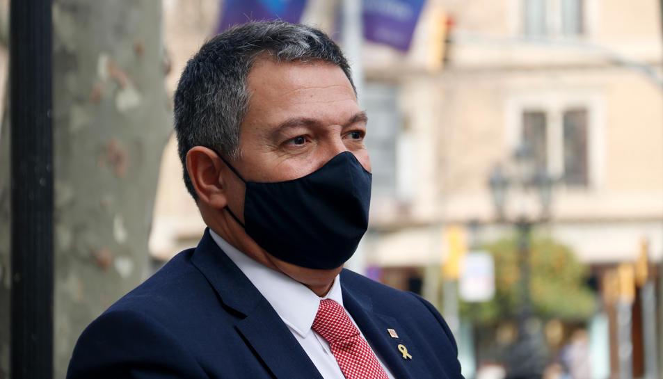 Pla curt del conseller d'Interior, Miquel Sàmper.