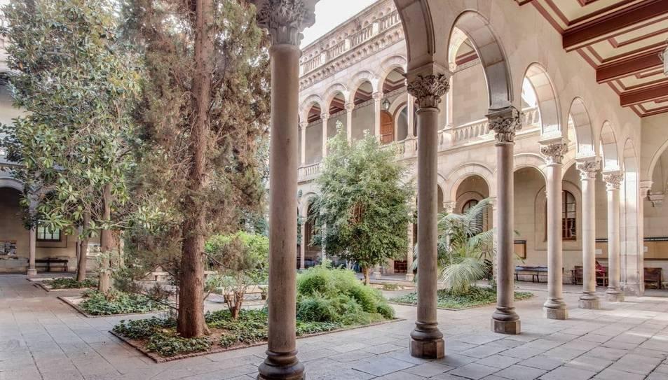 INterior de la Universitat de Barcelona.