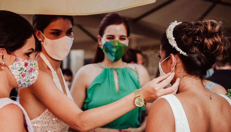 Imatge d'arxiu d'un casament el setembre de 2020, unes celebracions que es van haver d'adaptar a les restriccions per la pandèmia.