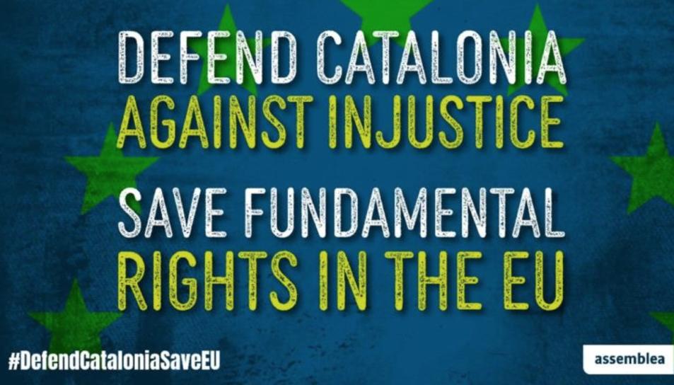 L'entitat ha llançat la campanya #DefendCataloniaSaveEU.
