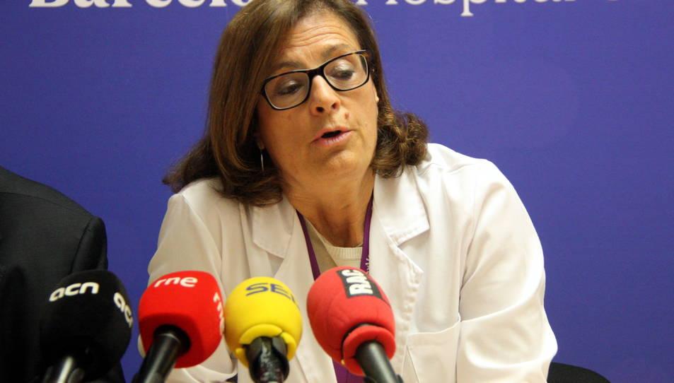La Dra. Magda Campins, cap del Servei de Medicina Preventiva i Epidemiologia de l'Hospital Universitari Vall d'Hebron