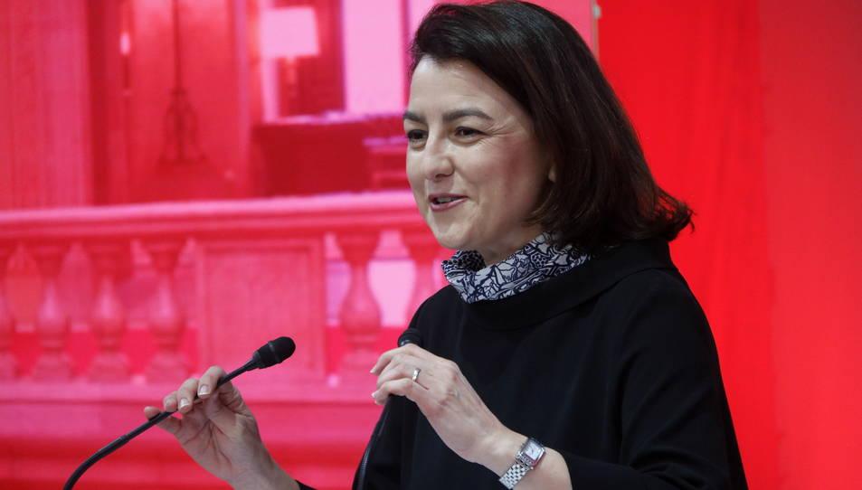 La candidata del PSC Eva Granados durant una reunió del nou grup parlamentari del PSC-Units.