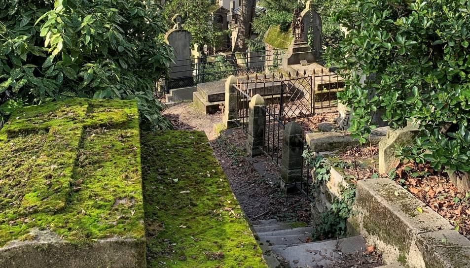 Vista del cementiri de Père-Lachaise.