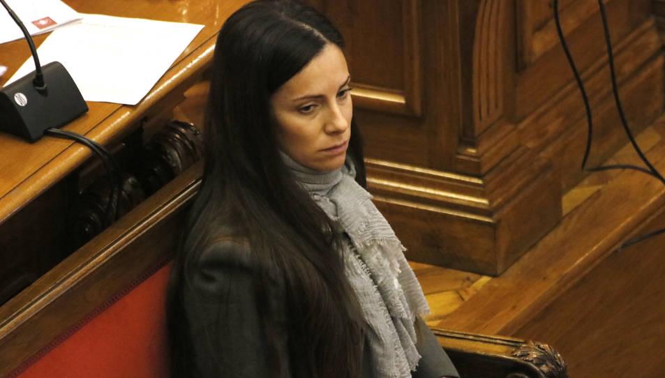L'acusada pel crim de la Guàrdia Urbana, Rosa Peral, durant una sessió del judici.