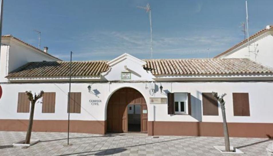 La caserna de la Guardia Civil a Villafranca de los Caballeros (Toledo).