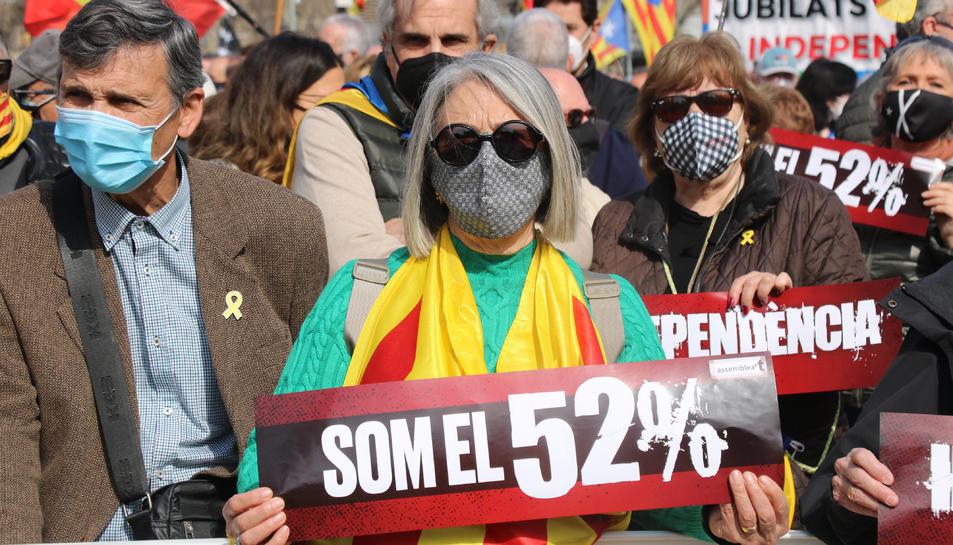 Concentració convocada per l'ANC a plaça Catalunya de Barcelona.