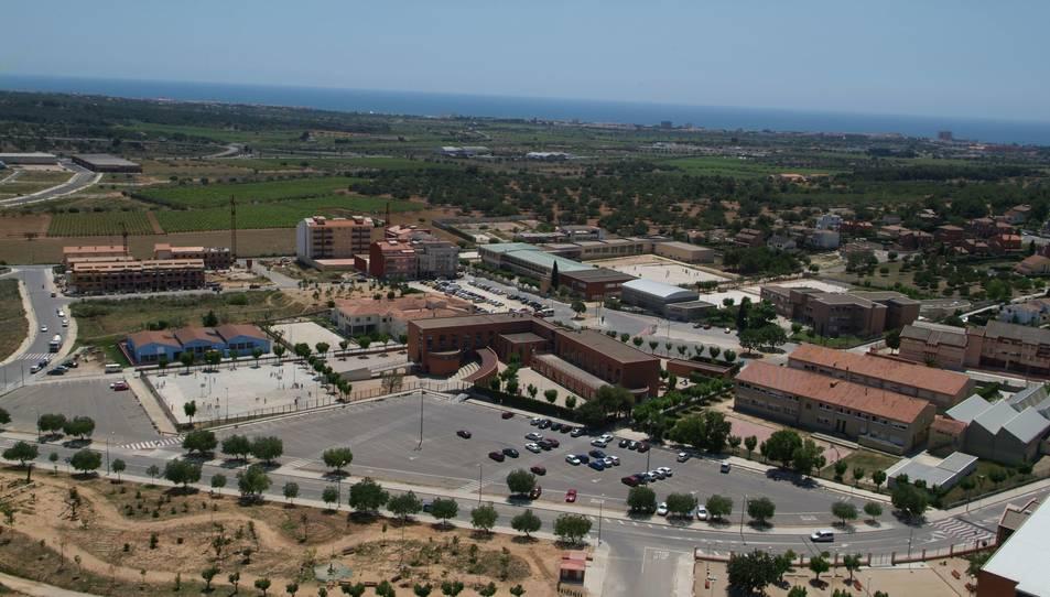 Imatge aèria de la zona escolar del Vendrell.