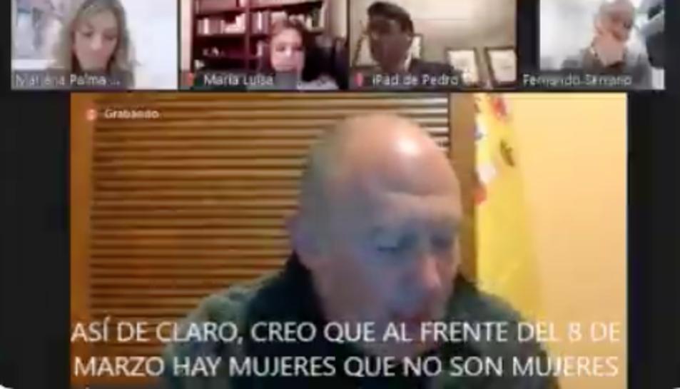Captura d'imatge de la intervenció del portaveu de Vox