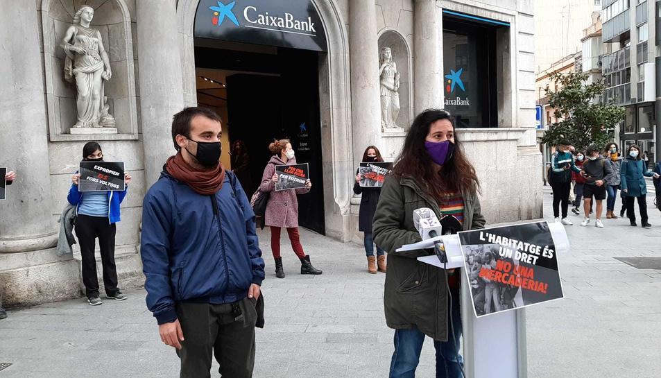 Imatge de la presentació de la campanya a la Rambla Nova.