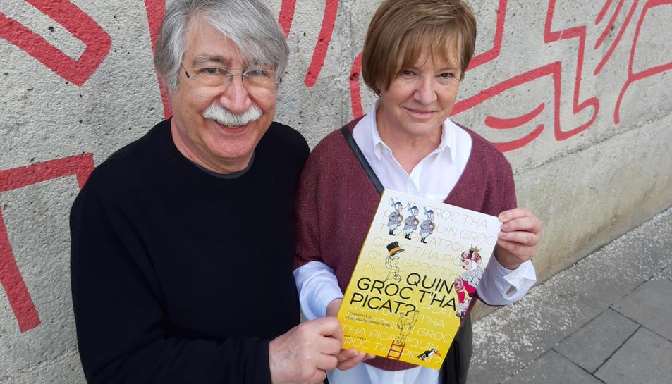 Pere Prats Sobrepere i Lena Paüls, il·lustrador i autora del llibre 'Quin groc t'ha picat?'