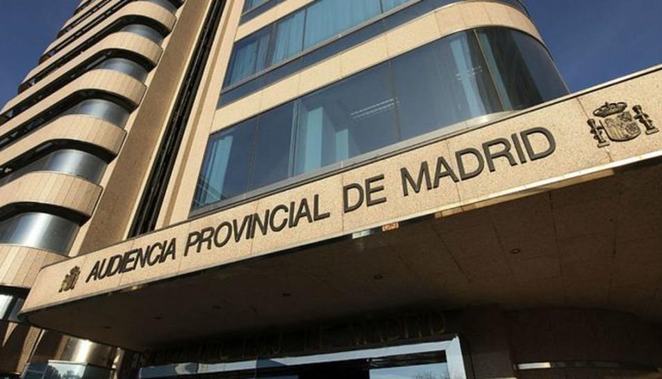 Imatge de l'edifici de l'Audiencia Provincial de Madrid.