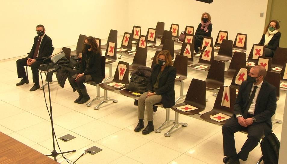 Els acusats durant el judici de la Sindicatura Electoral de l'1-O.