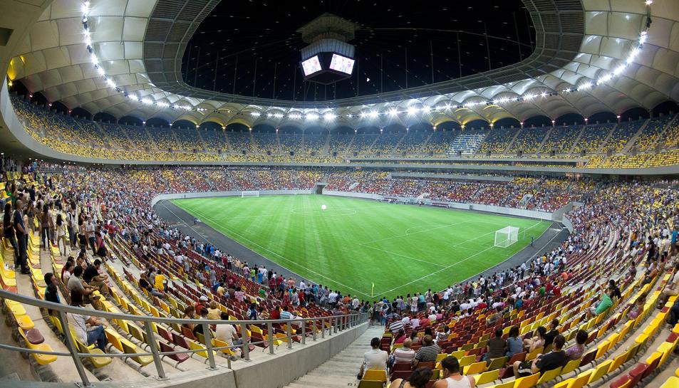 L'estadi nacional de Bucarest.