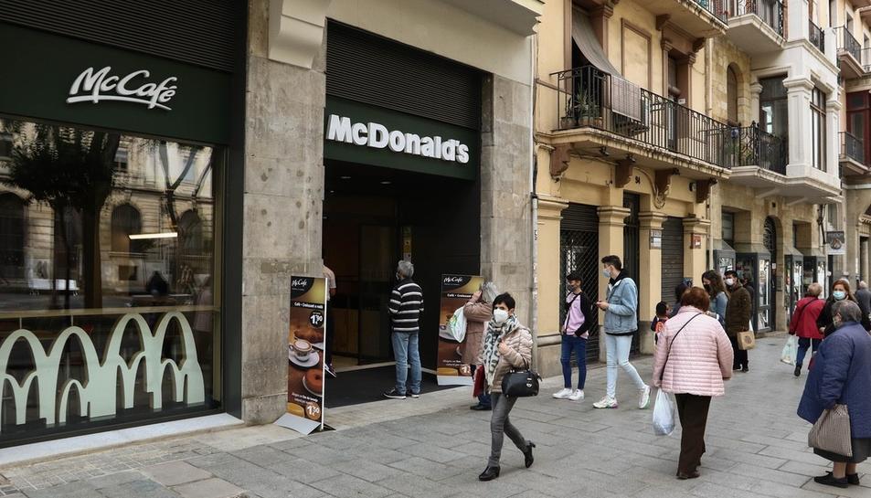 L'obertura del McDonald's de la Rambla Nova