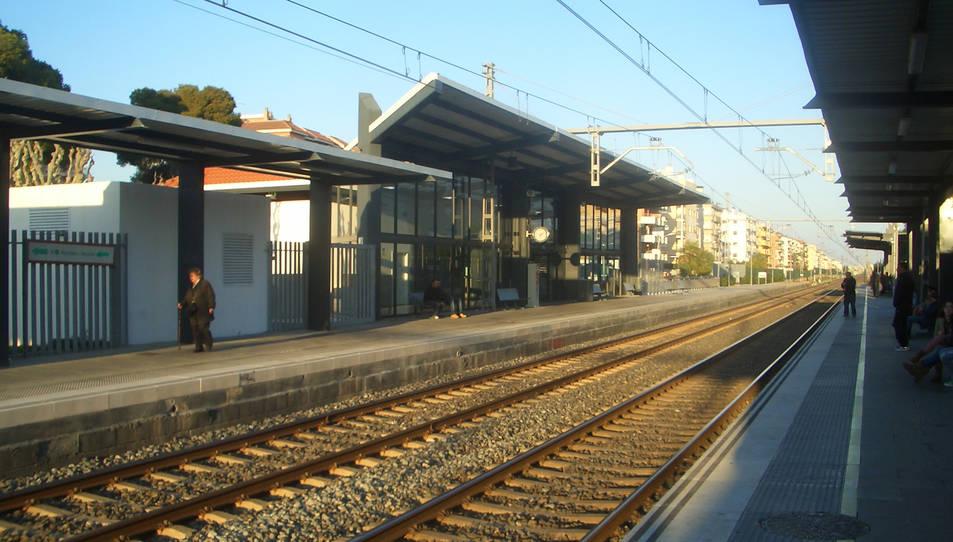 Imatge de l'estació de tren de Segur de Calafell.