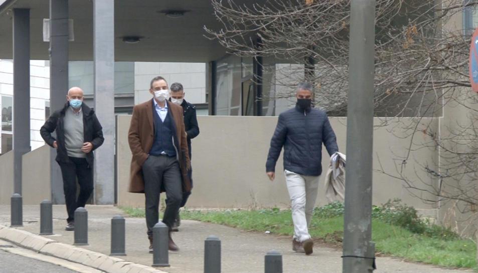 Quatre dels cinc dels policies investigats per l'agressió a Enric Sirvent, que han declarat en fase d'instrucció als jutjats de Lleida.