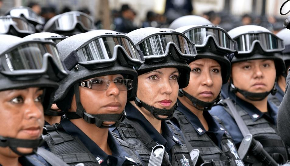 Imatge d'arxiu d'algunes dones policia a Mèxic.