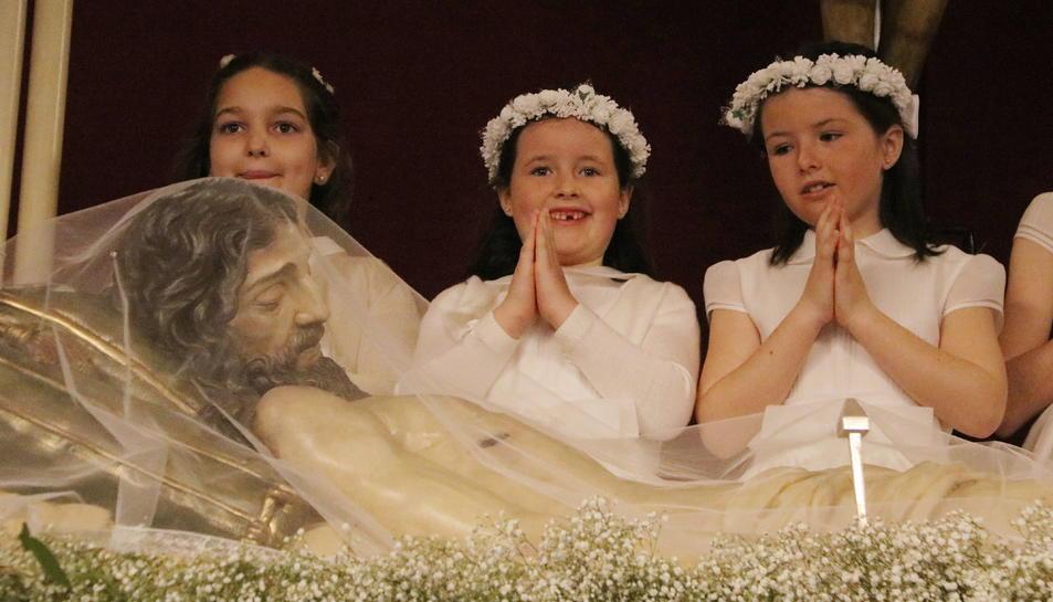 L'esclat de la pandèmia va obligar a ajornar les celebracions de la primera comunió l'any passat.