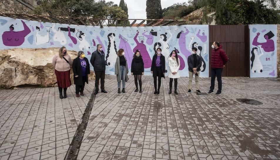 Imatge del mural al Passeig de les Palemeres.
