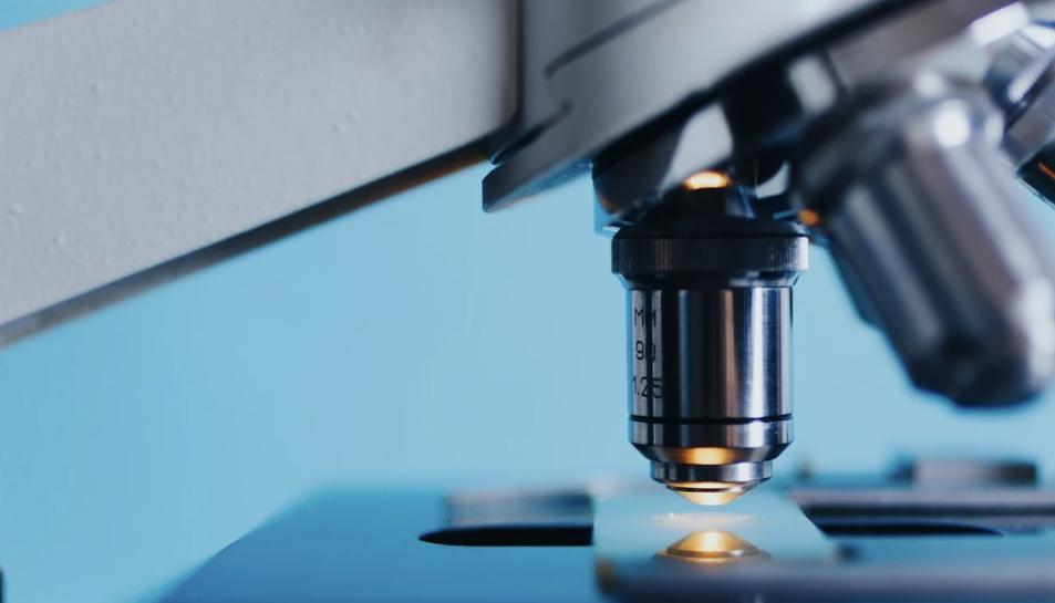 Imatge d'arxiu d'un microscopi convencional.