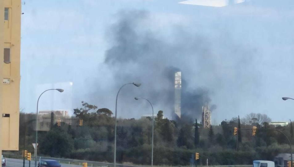 Imatge de la columna de fum.
