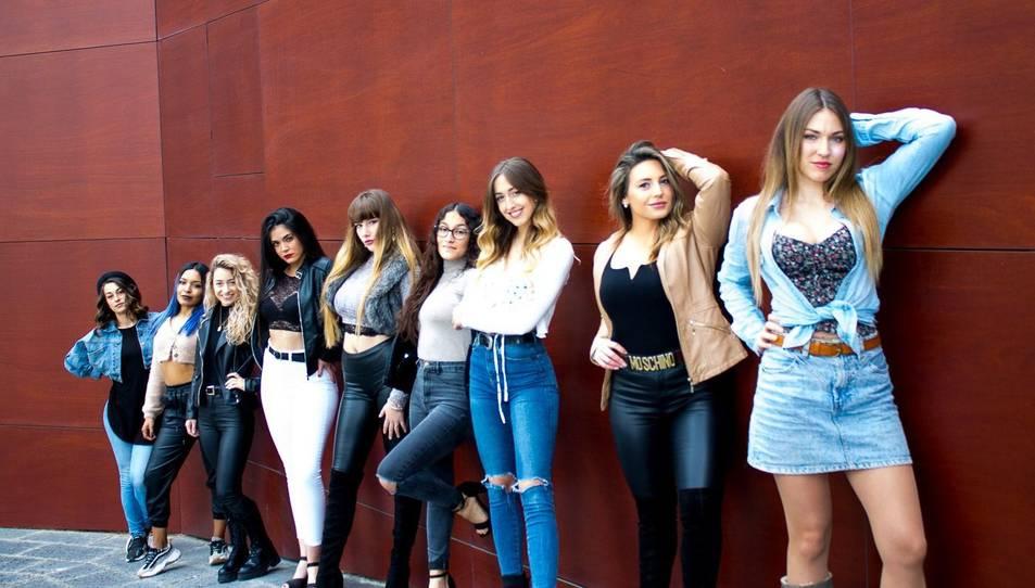 Fotografia de les nou finalistes.