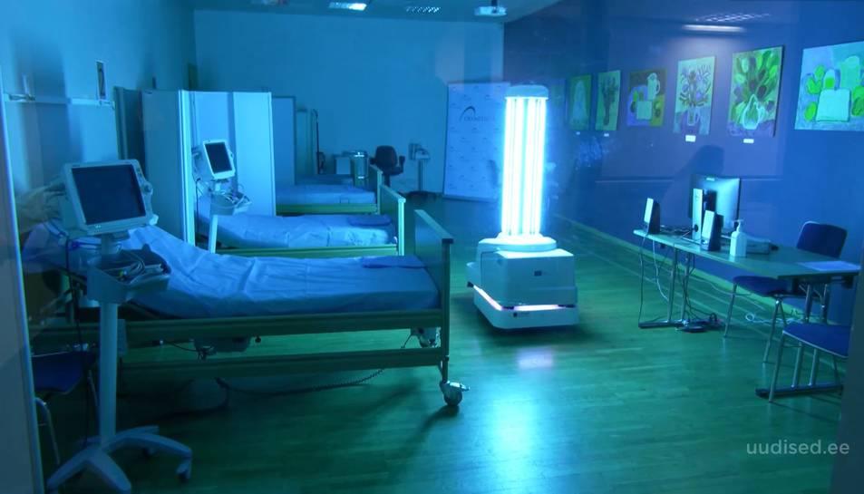 Amb una sola càrrega el robot podrà desinfectar 18 habitacions.