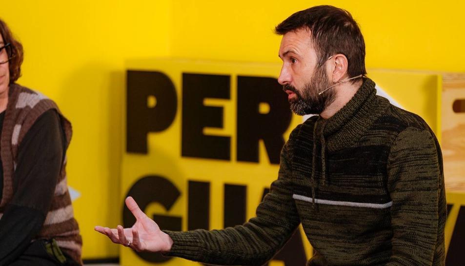 Pau Juvillà, va ser el número u a la llista per Lleida de la CUP.