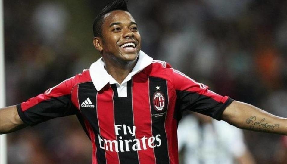 Robinho, amb la samarreta del Milan.
