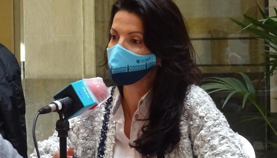 Imatge de Sonia Orts en una tertúlia política de Tarragona Ràdio quan era portaveu de Ciutadans.