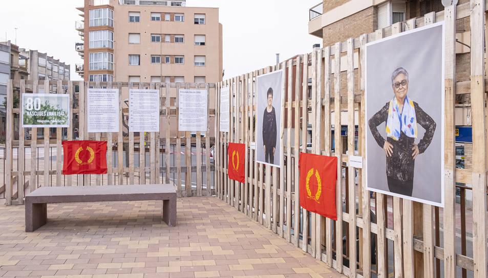 L'exposició està basada en retrats de les dones homenatjades.