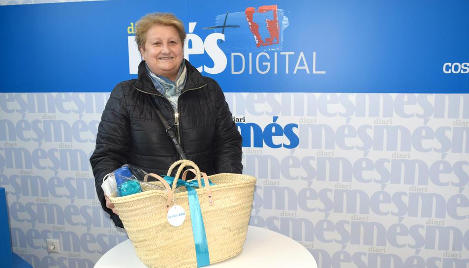 Pepi Margol, guanyadora de la cistella Caprabo del Diari Més de la primera quinzena de març
