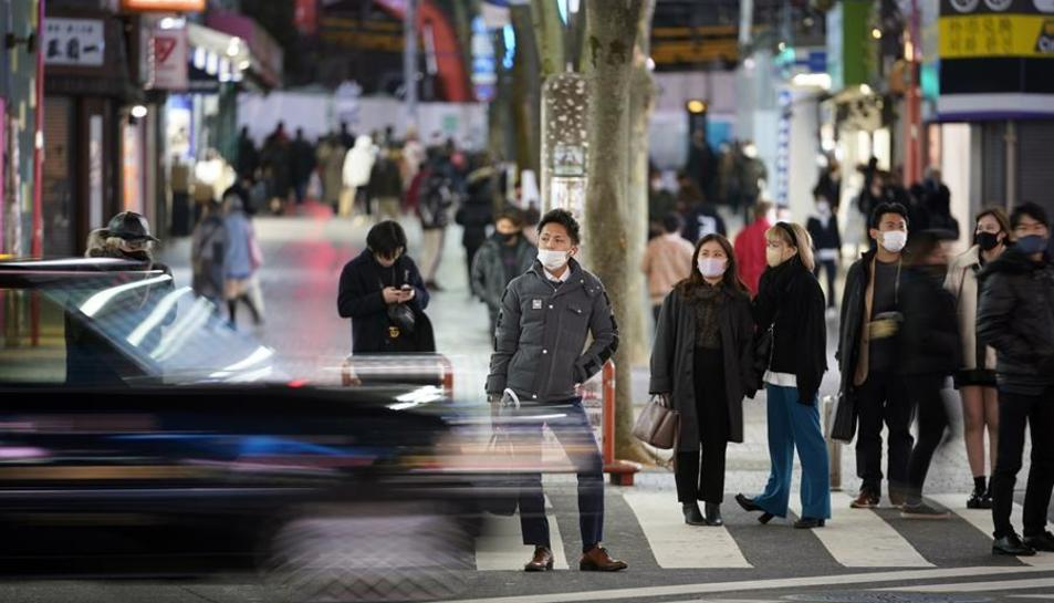 Imatge d'arxiu de gent a un carrer del Japó.