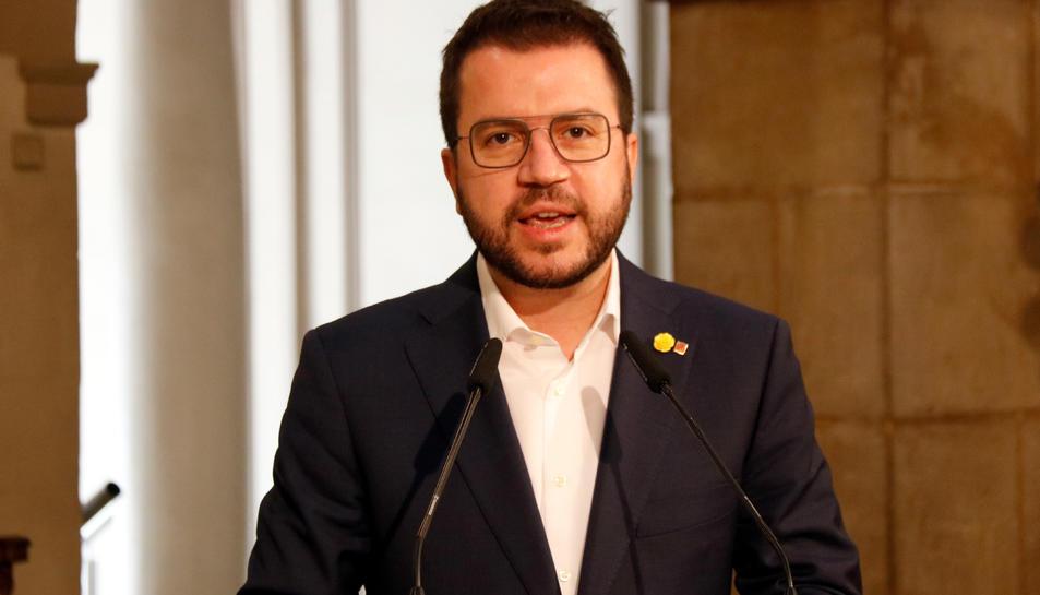 El president en funcions Pere Aragonès.