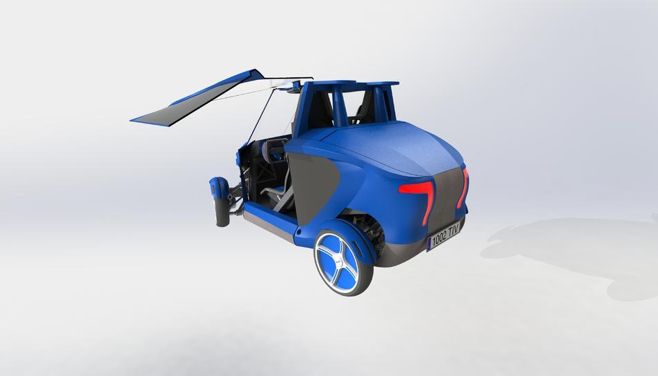 'Virante', el cotxe 100% elèctric que està desenvolupant Tecnovelero.