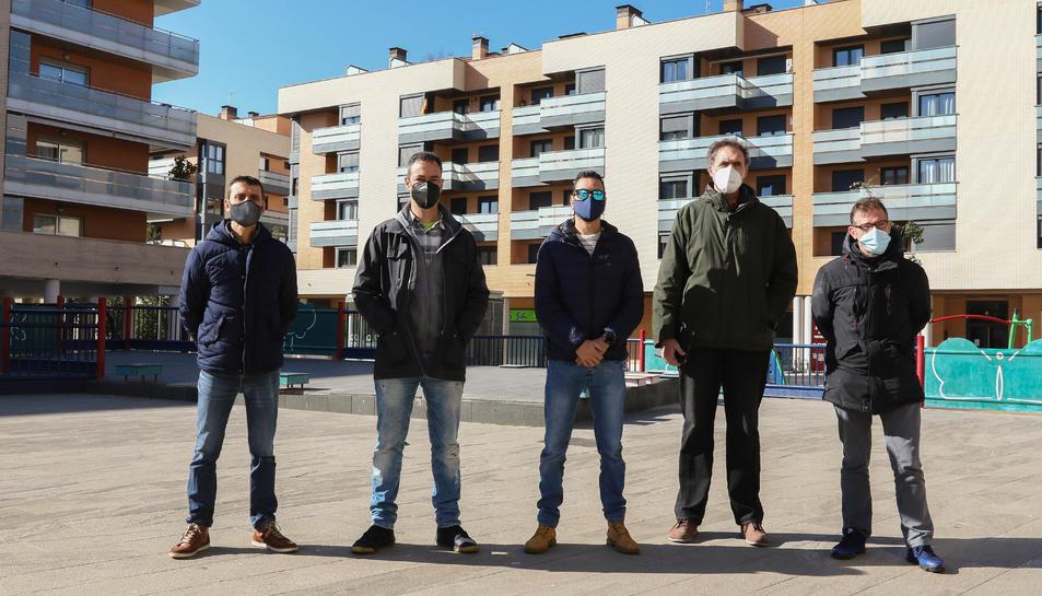 Josep Margalef, Marcos Villa, Víctor Muñoz, José Pizarro i Rafael Fernández, integrants de la Junta.