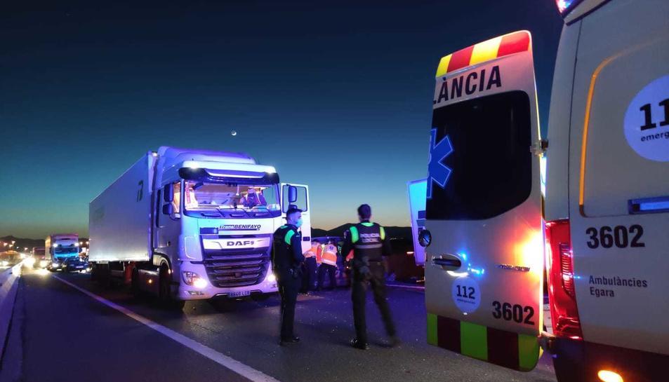 Imatge dels Mossos al lloc de l'incident.