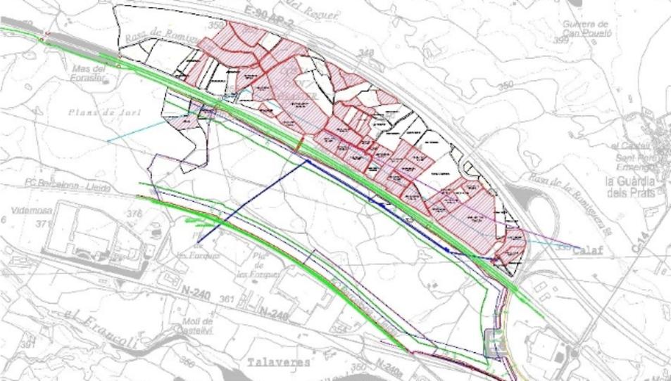 Els sòls on està previst ubicar la planta fotovoltaica estan situats al costat de la sortida de Montblanc de l'AP-2.