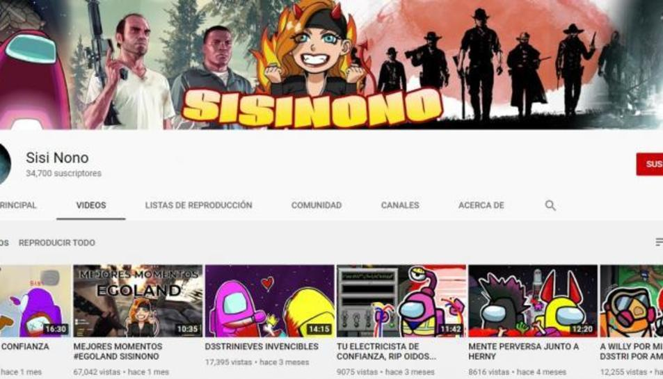 El canal de Youtube de Sisi Nono.