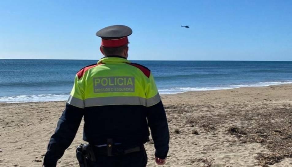 Fem recerca amb agents de seguretat ciutadana i el nostre helicòpter