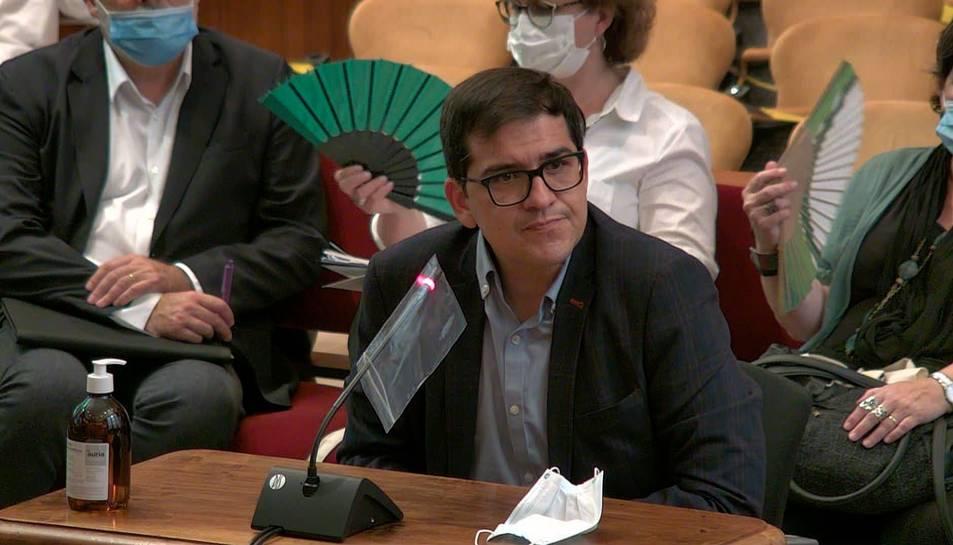 L'exvicepresident segon del Parlament, José María Espejo-Saavedra, durant la seva declaració com a testimoni al TSJC.