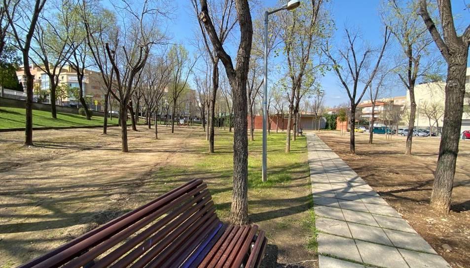 Imatge del parc renovat.