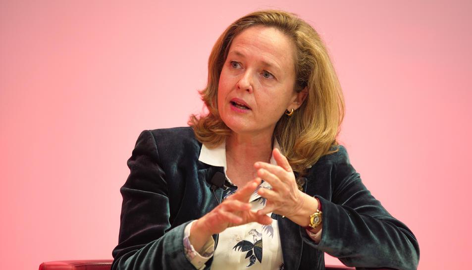 La vicepresidenta segona Nadia Calviño.