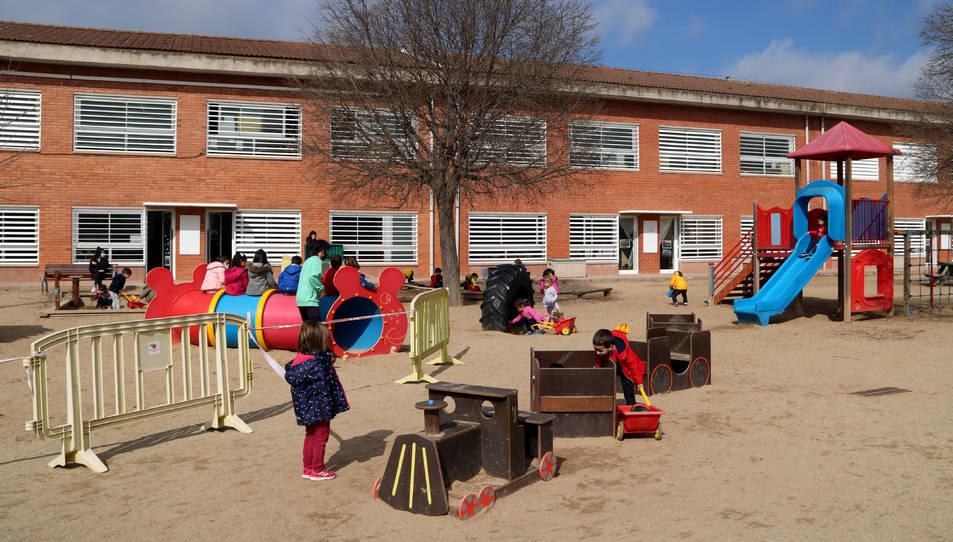 Imatge del pati d'una escola catalana.