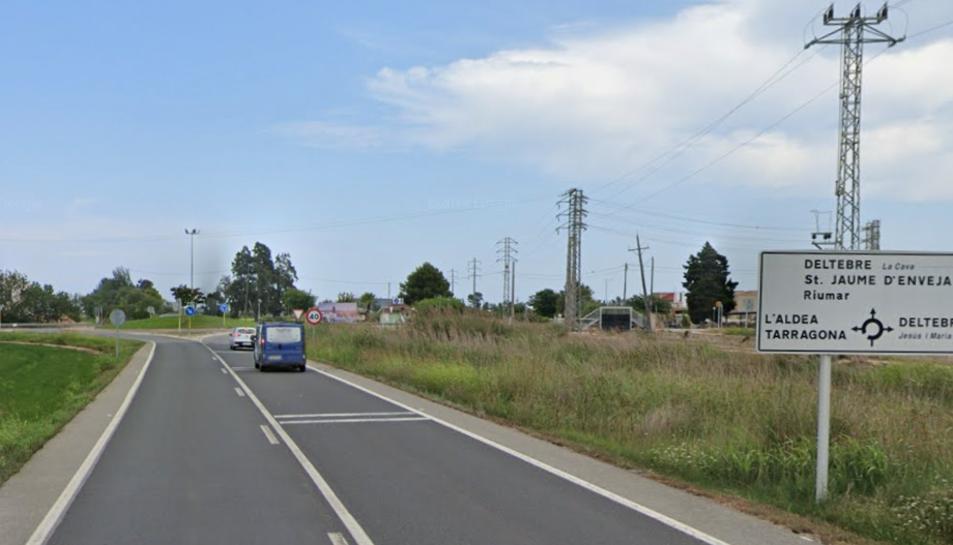 Imatge de la via on s'ha produït l'accident.