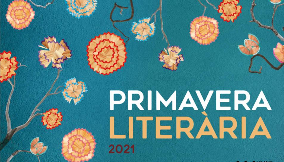 La imatge del cartell de la Primavera Literària és obra de l'artista Noemí Rossell.